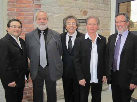 Le trio avec Michel et Jo deux formidables organisateurs!