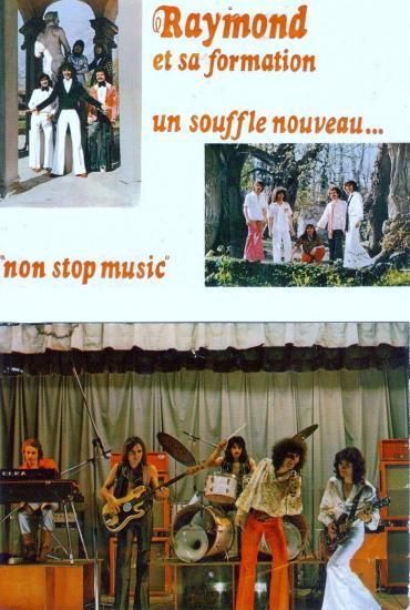 cartes postales pub milieu des années 70.