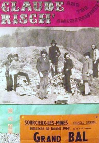 1969 Affiche GRAND BAL AVEC CLAUDE RISCH