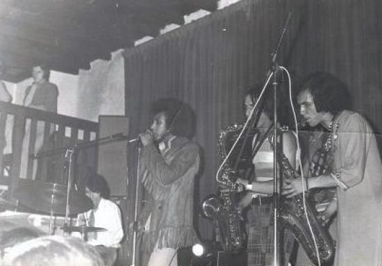 """Claude Risch 1969"""" dancing les roches"""" Jacky Kirsten en attraction le """" pape Lyonnais """"du RNB"""