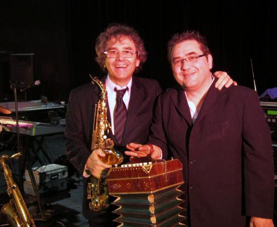 Avec Alain Bosc, brillant bandoéniste/accordéoniste .13.03.2011